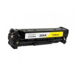 Toner Compatível HP 304A Amarelo (CC532A)