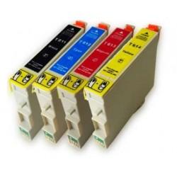 Pack 4 Tinteiros Epson T0611/2/3/4 Compatível (T0615)