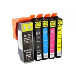 Pack 5 Tinteiros Epson 26XL Compatível T2621/T2631/2/3/4