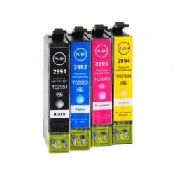 Pack 4 Tinteiros Epson 29XL Compatíveis (T2991/2/3/4)