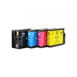 4 Tinteiros compatíveis Tinteiros Compativeis HP 932XL / 933XL Preto 32ml + Cor 16ml