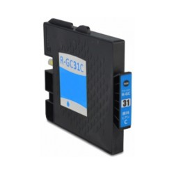 Tinteiro Compatível Ricoh GC31 Azul