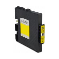 Tinteiro Compatível Ricoh GC31 Amarelo