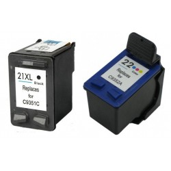 Tinteiro Compatível HP 22XL / 21XL Pack