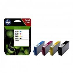 Tinteiro HP 364XL CMYK Combo 4-Pack - N9J74AE Compatível